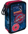 Coolpack - Jumper 3 - Piórnik potrójny z wyposażeniem - Blue (Badges)