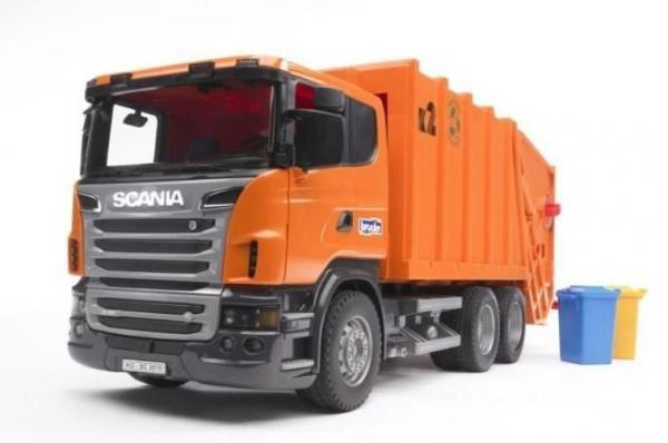 Pojazd Scania R Śmieciarka pomarańczowa (BR-03560)