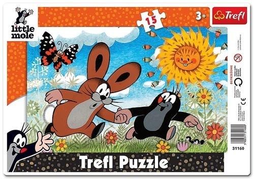 Puzzle ramkowe Krecik Biegnijmy! 15 (31160)