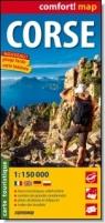 Korsyka / Corse laminowana mapa turystyczna 1:150 000 wersja francuska