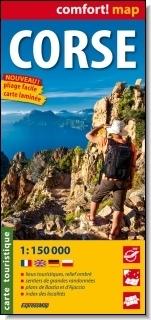 Korsyka / Corse laminowana mapa turystyczna 1:150 000 wersja francuska praca zbiorowa