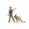 Figurka leśnika z psem
