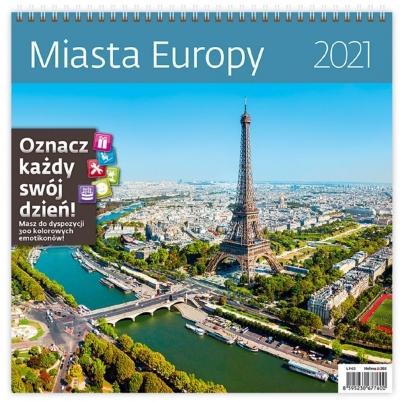 Kalendarz 2021 30x30 Miasta Europy HELMA