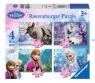Puzzle 4 x 35 elementów, Frozen (087600)
