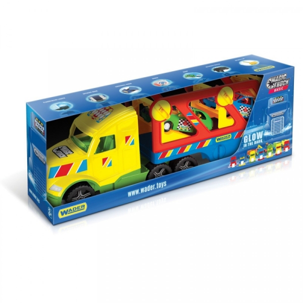Pojazd Magic Truck basic Laweta z autami coupe (36360)