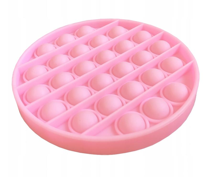 Pop it, Fidget toys, zabawka sensoryczna, antystresowa, gniotek Push Pop Bubble - różowy (1004880)