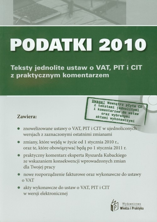 Podatki 2010 z płytą CD