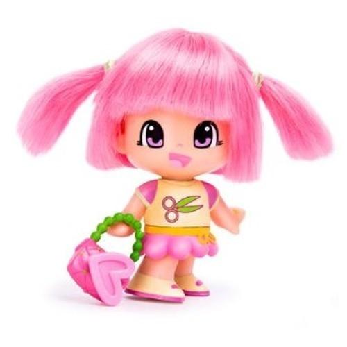 Pinypon Laleczka z włosami różowa