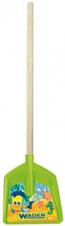 Łopata długa na drewnianym trzonku z IML - zielona (72301)