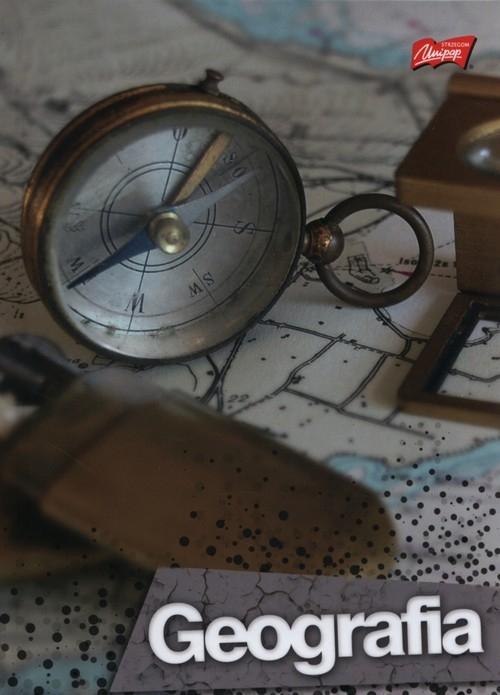 Brulion A5 w kratkę 80 kartek Geografia 5 sztuk