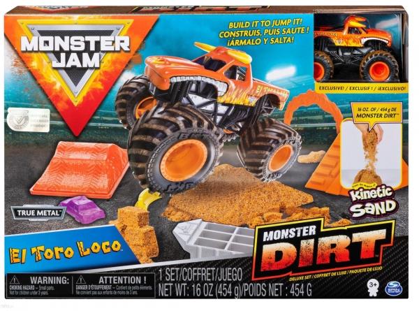Monster Jam: Zestaw z piaskiem kinetycznym delux - El Toro Loco (6044986/20116025)