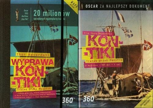 Wyprawa Kon-Tiki Tratwą przez Pacyfik + książka