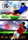 Blok techniczny A4 Robert Lewandowski 10 kartek 10 sztuk mix