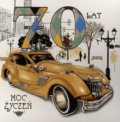 Karnet 70 urodziny kwadrat HM-200-727