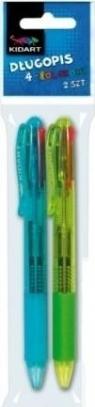 Kidart Długopis 4 kolory 2 szt