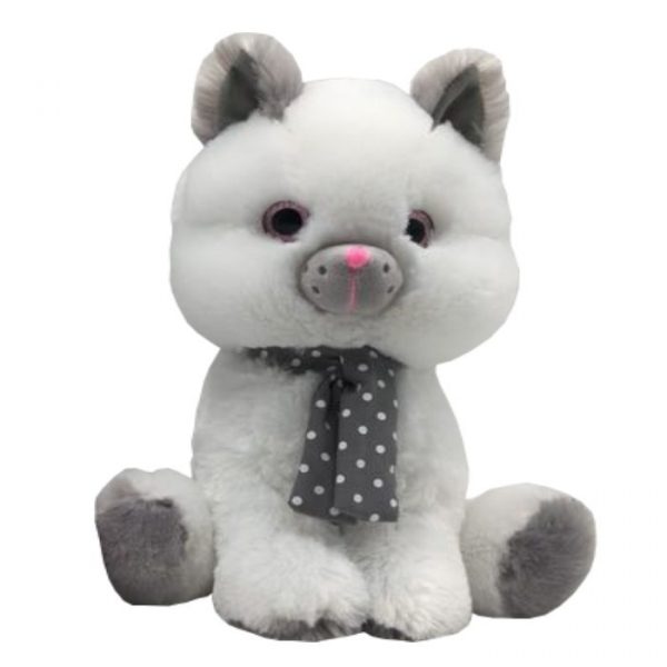 Maskotka Kot biały Silver 30 cm (4820b)