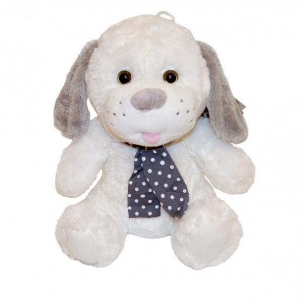 Maskotka Pies Kolekcja Silver biały 35 cm (4553b)