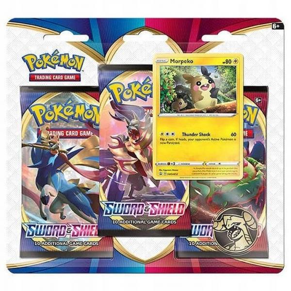 Karty Sword&Shield 3pack Blister Morpeko (26559/6551A)