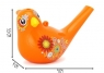 Kolorowy Gwizdek Ptak Ptaszek Wodny Śpiewa pomarańczowy