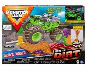 Monster Jam: Zestaw z piaskiem kinetycznym delux - Grave Digger