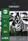 Blok techniczny A4 Canson czarny 10 kartek Zebra