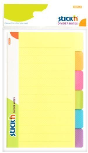 Przekładki samoprzylepne neonowe, 6 kolorów indeksów