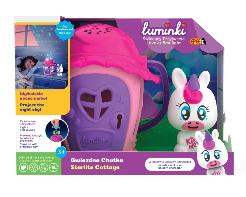 Luminki - Świecący Przyjaciele - Gwiezdna Chatka ze zwierzakiem Luna. Wiek: 3+