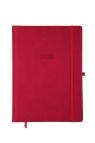 Kalendarz 2020 A4 dzienny KK-A4DLE Elegance czerwony