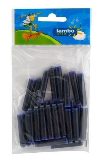 Naboje atramentowe niebieskie 30 sztuk LAMBO