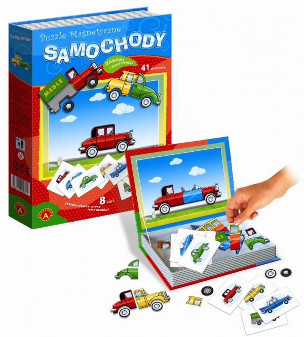 Puzzle magnetyczne 41: Samochody (0760)