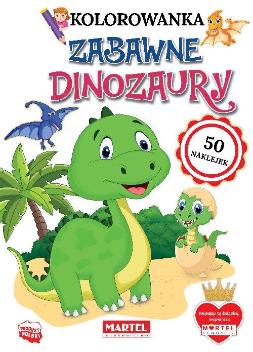 Zabawne dinozaury z naklejkami Ratajszczak Katarzyna, Gdula Adam, Włodarczyk Hubert