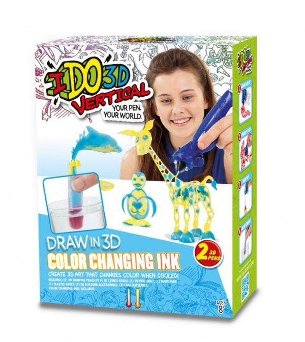 IDO3D Vertical, Zmieniający kolor - 2 długopisy (IDO6060)