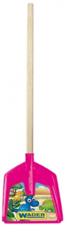 Łopata długa na drewnianym trzonku z IML - różowy (72301)