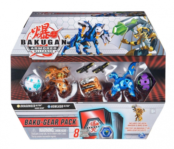 Bakugan: Armored Alliance. Baku-Gear Pack - Dragonoid Ultra + Baku-Gear, Howlkor Ultra, Pegatrix, Hydorous (6056037/20122678)