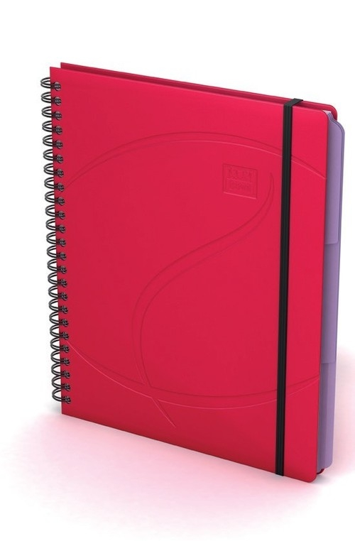 Kołonotatnik Oxford A5 80 kartek w linie Beauty Organiser czerwony