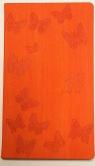 Kalendarz kieszonkowy A6 pomarańczowy Motyle