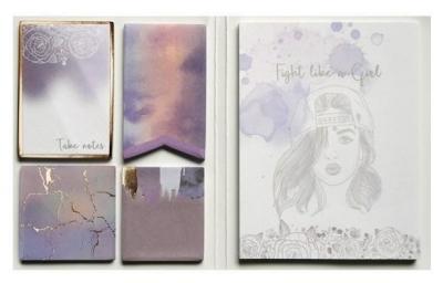 Karteczki samoprzylepne Fight like a girl + notes