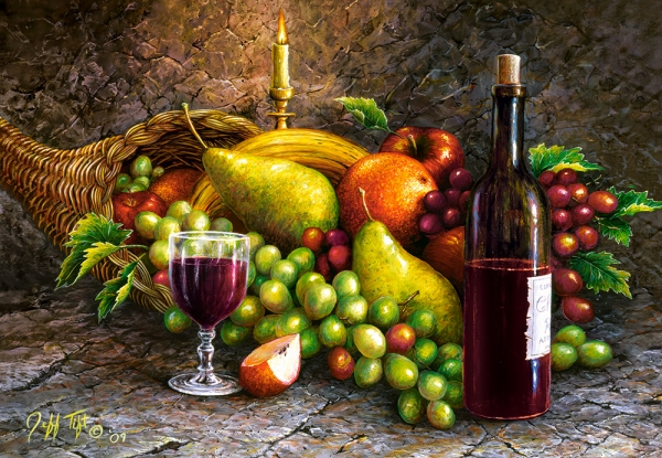 Puzzle 1000: Fruit and Wine (C-104604)