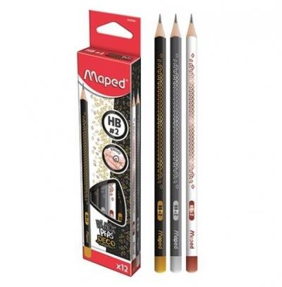 Ołówek Black'Peps Deco HB (12 szt.)