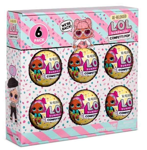 L.O.L. Surprise Figurki 6-pak confetti, Angel (571582E7C/571605)