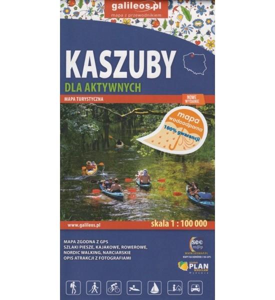 Kaszuby dla aktywnych, 1:100 000 - mapa turystyczna wodoodporna praca zbiorowa