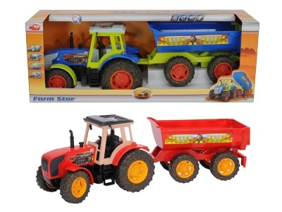 DICKIE Traktor Farm Star ze światłem