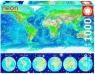 Puzzle Neonowy świat - fluorescencyjna mapa świata 1000