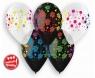 Balon gumowy Godan urodzinowe groszki 5 szt mix 330 mm 13cal (GS120/UGR)