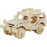 Puzzle drewniane 3D Jeep