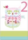 Karnet B6 z kopertą Urodziny 2 dziewczynka