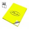 Etykieta samoprzylepna Protos fluo A4 - żółty fluorescencyjny 210 mm x 297 mm