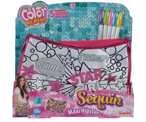 Color Me Mine Cekinowa torebka Maxi Hipster Star Girl