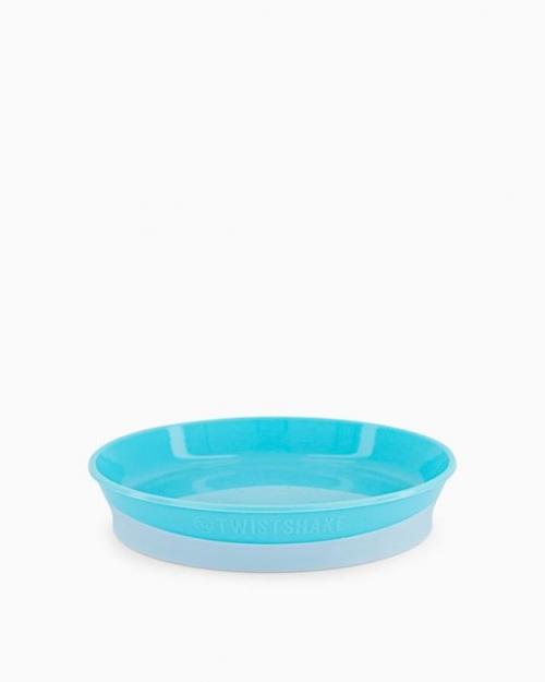 Twistshake Talerz z Pokrywką 6m+ Pastelowy Niebieski