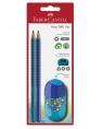 Grip 2001 Set 2X Ołówek+Temperówka Trend z gumką Blister Faber-Castell (183560)